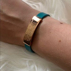 Marc by Marc Jacobs Teal and Gold Bracelet